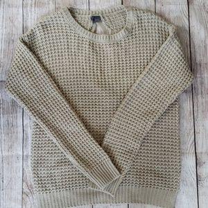 Sparkle & Fade tan sweater